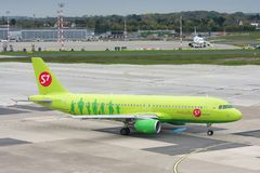 S7 Siberia Airlines Airbus A320 Royalty Free Stock Images