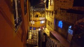 Sąsiedztwo noc Bogota Zdjęcia Royalty Free