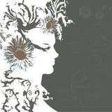 s-silhouettekvinna Royaltyfria Foton