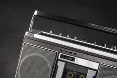 1980s Silver radio boom box Stock Photo