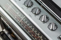 1980s Silver retro radio boom box on white background.  stock photos