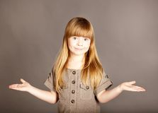 It's simple-a little girl spreading her arms Stock Photos