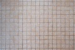 1970s Small Square Beige Bathroom Tiles. 1960s 1970s 1980s Small Square Beige Bathroom Tiles royalty free stock photos
