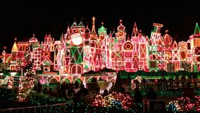 It's A Small World. Disneyland Holiday Season in Los Angeles Royalty Free Stock Photos