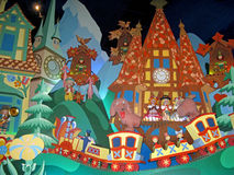 It's a Small World Germany. MARNE-LA-VALLEE, FRANCE - July 28, 2008 - The Germany scene in the It's a Small World Attraction in Disneyland Resort Paris royalty free stock photo