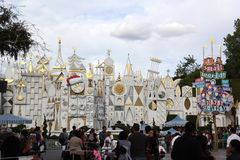 It's A Small World During Holidays. At Disneyland California. Christmas at Disneyland with the tourists Royalty Free Stock Photography
