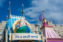 `It`s a small world` ride at the Magic Kingdom, Walt Disney World. Orlando, Florida: December 2, 2017: `It`s a small world` ride at the Magic Kingdom, Walt Stock Photography
