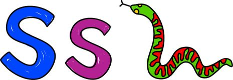 S is for snake Royalty Free Stock Photo