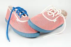 s sneakers kobieta Fotografia Royalty Free
