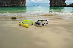 It's snorkeling time! Stock Images