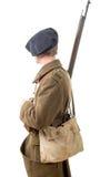 40s soldat français, vue de côté Images libres de droits