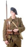 40s soldato francese, vista frontale Fotografie Stock Libere da Diritti