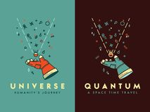 Space universe humanity`s journey vector illustration for any us Royalty Free Stock Photos