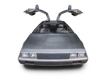 1980s Delorean on white Stock Photography