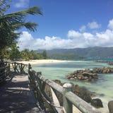 ` S St. Annes Erholungsort und Badekurort, Seychellen Stockbild