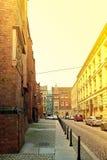 ` S St. Elisabeth Straße mit ` s St. Elisabeth Kirche auf dem links in Breslau, Polen Lizenzfreies Stockbild