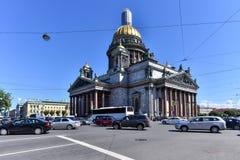 ` S St. Isaac Kathedrale ist die berühmteste und größte Kirche in St Petersburg, Lizenzfreies Stockbild