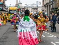 ` S St. Patric Parade in London lizenzfreie stockbilder