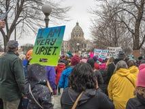 ` S St Paul -го март женщин, Минесота, США стоковые изображения rf