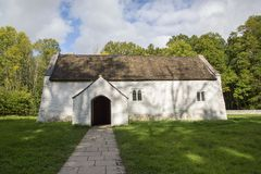 ` S St. Teilo Kirche, Wales St. Fagans Lizenzfreie Stockfotos