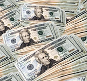 Money. A stack of twenty dollar bills Royalty Free Stock Photo