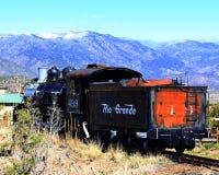 1800`s Steam Locomotive. Steam Locomotive relic on display at Royal Gorge, Colorado Stock Photos