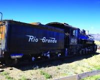 1800`s Steam Locomotive. Steam Locomotive relic on display at Royal Gorge, Colorado Royalty Free Stock Photos