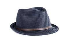 ` S Straw Hat Isolated dos homens no branco Foto de Stock Royalty Free