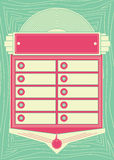 1950s Style Jukebox Background and Frame. 1950s Inspired Jukebox Background and Frame stock illustration