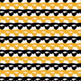 1960s Style Lace Ribbon Trim Stripes Seamless Vector Pattern royalty free illustration