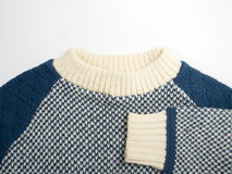 80's Style Old Fashioned Sweater for Children. Detail of an 80's Style old-fashioned sweater for children Stock Photos