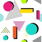 90s style seamless geometric pattern. Vector illustration. 90s style seamless geometric pattern Stock Illustration