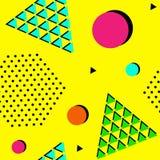 90s style seamless geometric pattern. Vector illustration. Seamless abstract geometric vector pattern Stock Illustration