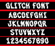 80s style VHS glitch font. For your decoration Vector Illustration