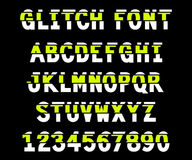 80s style VHS glitch font. For your decoration Royalty Free Illustration