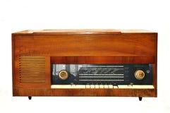 1950s Style Vintage retro radio gramophone isolated. 1950s Style Vintage retro radio isolated over white background Vector Illustration