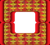 60s styled frame with diamond ornament Stock Images