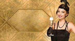 20s stylowy świąteczny piękno Fotografia Royalty Free
