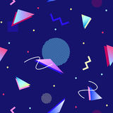 90s stylowy geometryczny bezszwowy wzór Zdjęcie Royalty Free