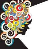 60s stylu plakat Obrazy Royalty Free