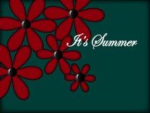 It's Summer. Bulk flowers and an inscription It's Summer Stock Illustration
