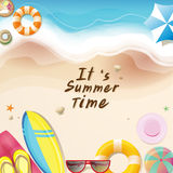 It's summer time. let's go to the sea stock illustration
