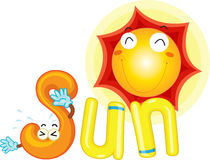 S for sun. Illustration of s for sun Royalty Free Stock Photo