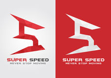 S Super Speed icon symbol from an alphabet letter S. Stock Photography