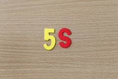5S (System management) of colorful text. Stock Photos