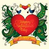 s szczęśliwego valentine karciany dzień Obrazy Royalty Free