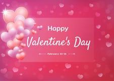 s szczęśliwego valentine karciany dzień Abstrakcjonistyczny tło z sercami ilustracji