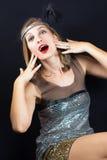 20s sztuki nouveau kobieta Zdjęcia Royalty Free