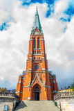 S:t Johannes church Front View. (Vertical View Royalty Free Stock Images