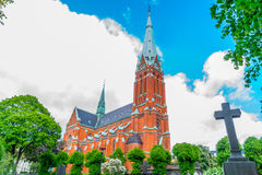 S:t Johannes church Side View. (Horizontal View Stock Photo